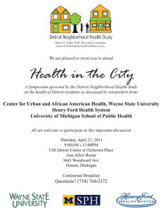 Detroit Neighborhood Health Study